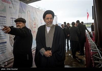 سیدمحمود علوی وزیر اطلاعات در آئین افتتاح فاز یک آزادراه تهران-شمال