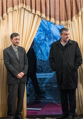 محمد اسلامی وزیر راه و شهرسازی و پرویز فتاح رئیس بنیاد جانبازان و مستضعفان