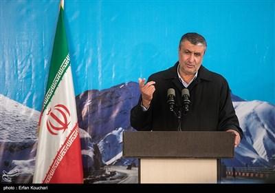 سخنرانی محمد اسلامی وزیر راه و شهرسازی در آیین افتتاح فاز یک آزادراه تهران-شمال