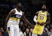 لیگ NBA| پیروزی لیکرز با درخشش جیمز و دیویس/ رپتورز حریف ستاره یونانی باکس نشد