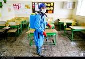 ضد عفونی کردن کلاسهای مدارس بجنورد به روایت تصاویر