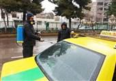 ناوگان تاکسیرانی قزوین روزانه ضدعفونی میشود
