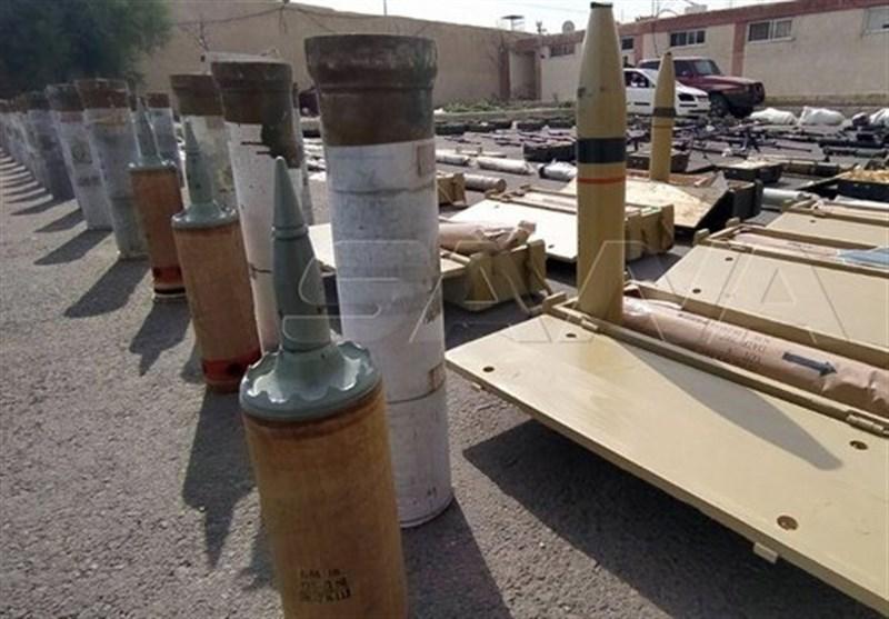 سوریه| کشف تسلیحات ساخت ترکیه در مناطق آزادشده از اشغال تروریستها+تصاویر