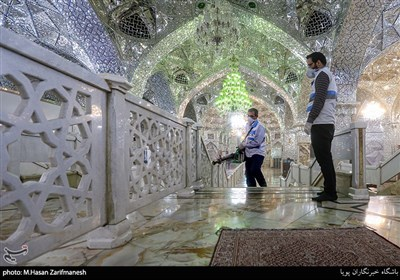 Iran Disinfects Holy Sites, Steps Up Efforts to Stop COVID-19