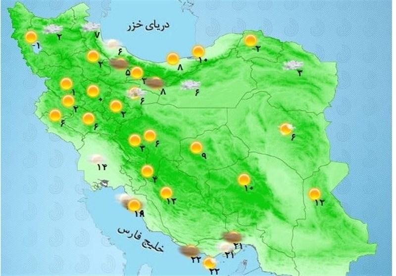 هشدار سازمان هواشناسی برای 9 استان تا دوشنبه آینده
