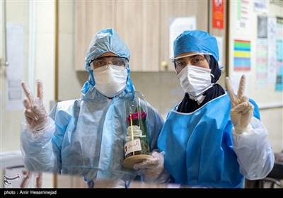 بخش بیماران کرونا بیمارستان کامکار - قم