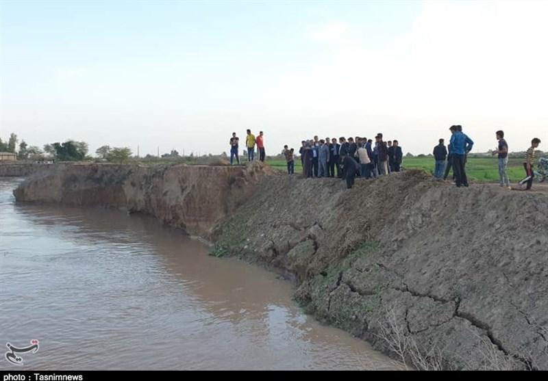 روستاهای شهرستان حمیدیه فعلا در امان از سیلاب؛ با افزایش دبی رودخانه احتمال خطر وجود دارد