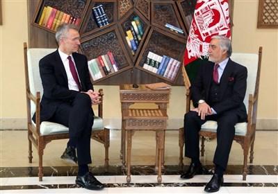 افغانستان| دیدار دبیرکل ناتو با «عبدالله» پیش از صدور بیانیه مشترک با «غنی»
