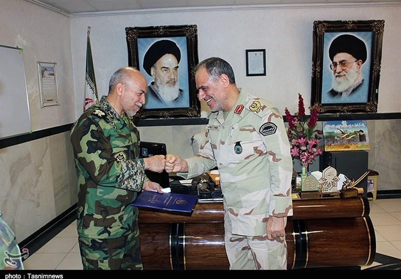 دیدار فرماندهان ارتش و مرزبانی کردستان+ تصاویر
