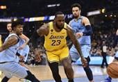 لیگ NBA| شکست لیکرز در ممفیس/ هاردن و وستبروک رکورد زدند