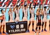 لیگ والیبال ژاپن| قهرمانی استینگز در سالن خالی/ دست کوبیاک به جام نرسید