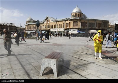Iran Disinfects Main Streets amid Spread of Coronovirus