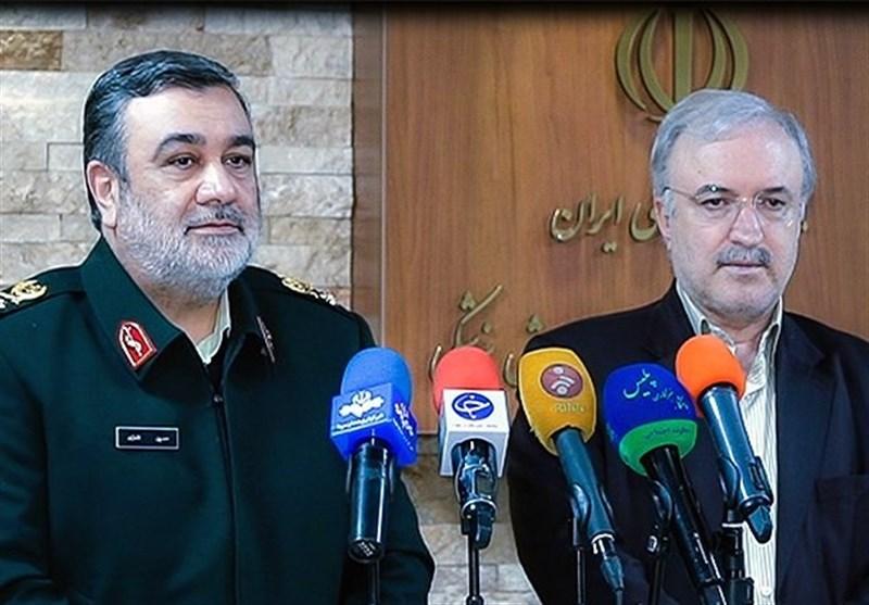 وزیر بهداشت از نیروی انتظامی تقدیر کرد