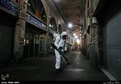 ضد عفونی و پاکسازی اماکن عمومی بازار بزرگ تهران