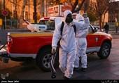 آغاز ضدعفونی کردن بازار تهران توسط آتشنشانی + تصاویر