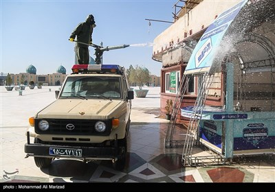 Iranian Military Disinfects Holy Sites in Qom Province amid Coronavirus Outbreak
