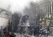 سوختگی 2 کارگر جوان بر اثر آتشسوزی شدید در منزل قدیمی + فیلم و تصاویر