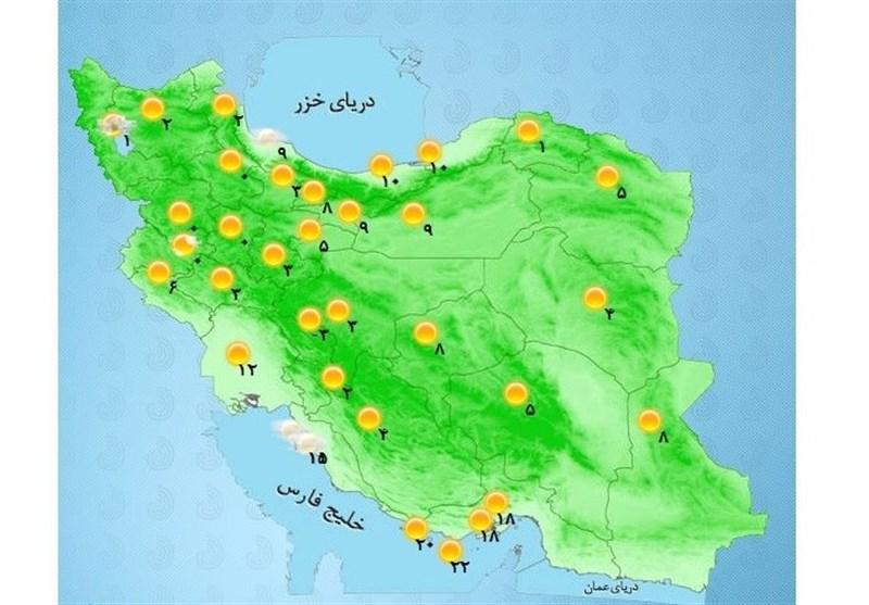 هواشناسی ایران ۱۴۰۰/۰۵/۱۳| هشدار هواشناسی برای ۱۰ استان کشور