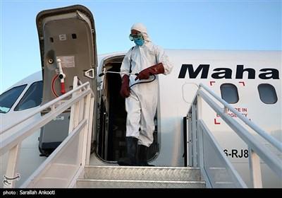 ضدعفونی کردن هواپیما در کرمان