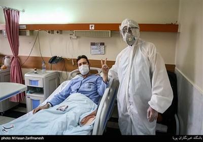 جشن میلاد حضرت علی(ع) و روز پدر در بخش ویژه بیماران کرونا بیمارستان بقیةالله