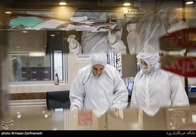 بخش ویژه بیماران کرونا در بیمارستان بقیة الله عج