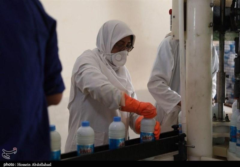 بزرگترین خط تولید مواد ضدعفونی شرق کشور در سمنان افتتاح شد