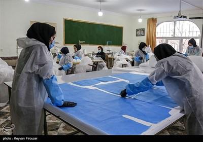 کارگاه تولید ماسک و لباس ایزوله - سنندج