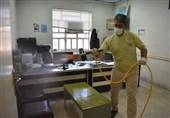 یزد| معابر و اماکن عمومی بهاباد توسط بسیج و سپاه ضدعفونی شد