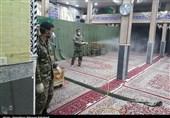 یزد | روایت تصویری تسنیم از تلاش جهادگران بسیجی برای ضدعفونی معابر بهاباد