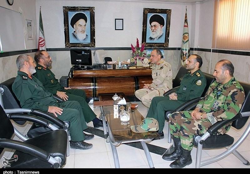 دیدار فرماندهان قرارگاه سپاه و مرزبانی کردستان به روایت تصویر
