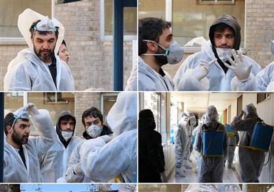حمید علیمی و دوستانش در خط مقدم مقابله با کرونا + عکس