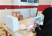 کارگاه جهادی تولید ماسک و لباس مخصوص کادر درمانی در چهارمحال و بختیاری راه اندازی شد + فیلم