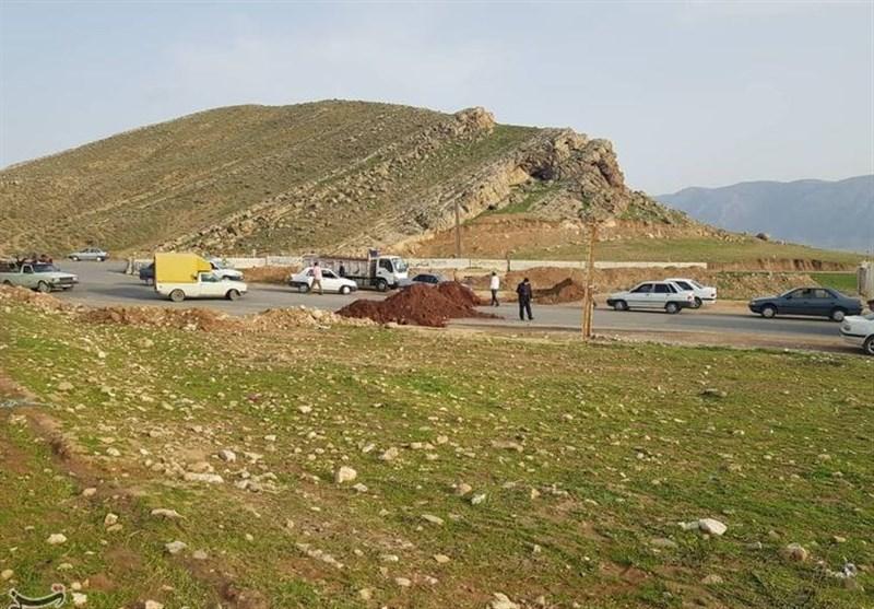 لرستان| مبادی ورودی شهرستان رومشکان مسدود شد