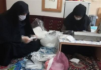 جهاد زنان خانهدار در تولید ماسک برای بیماران و کادر درمانی