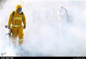 """حضور 50 آتشنشان برای ضدعفونی کردن معابر با استفاده از دستگاه """"فوگر"""" + تصاویر"""