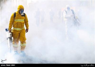 عملیات ضدعفونی محله صادقیه