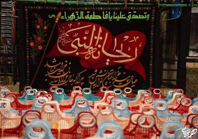 توزیع ۵۰۰ سبد غذایی هیئت ریحانة النبی (س) برای نیازمندان+عکس