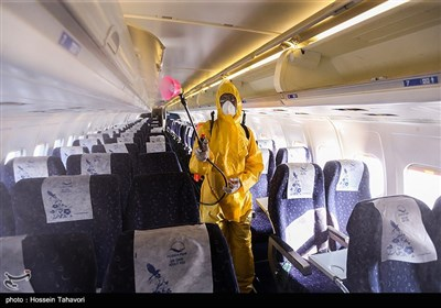 توزیع ژل ضد عفونی و اقدامات پیشگیرانه در فرودگاه کیش