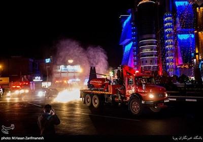ضد عفونی منطقه صادقیه توسط نیروهای آتش نشانی