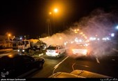 معابری در غرب تهران ضدعفونی شد + تصاویر