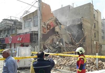 ریزش مرگبار ساختمان ۳ طبقه در خیابان اسکندری