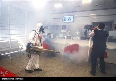 عملیات ضدعفونی ادارات و معابر عمومی محله نبرد