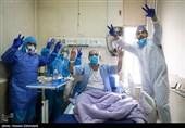 مراسم سال نو در بخش ویژه کرونا بیمارستان گلستان ارتش