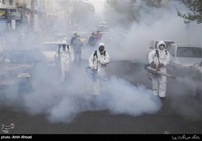 عملیات ضد عفونی محله نازی آباد