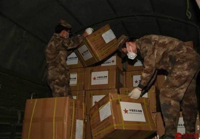 ارتش چین کمکهای ضروری برای مقابله با کرونا را به ایران ارسال کرد