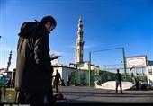 لحظه تحویل سال پشت دربهای بسته مسجد مقدس جمکران+ تصاویر
