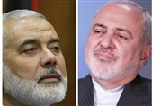 گفتوگوی تلفنی ظریف با هنیه / تأکید بر حمایت همیشگی ایران از آرمان فلسطین