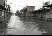 آبگرفتگی معابر و خیابانهای رامشیر بهروایت تصاویر