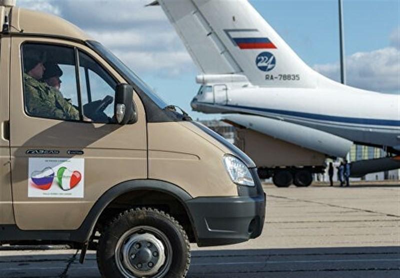تحویل محمولههای کمکهای پزشکی روسیه به ایتالیا