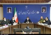 ارتباط ویدئو کنفرانسی استانداران آذربایجان غربی، آذربایجان شرقی و اردبیل + تصاویر